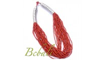Bead Multi Strands Line Necklace