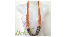 Beads Necklaces Multi Strand Long