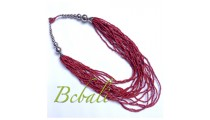 Beads Multi Strands Necklaces Handmade