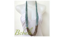 Multi Strand Beaded Necklaces Bali