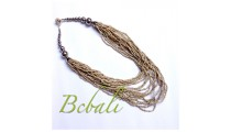 Multi Strand Beaded Necklaces Balinese