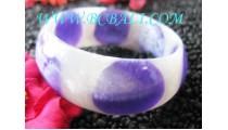 Casual Resin Bangles Handmade Motif