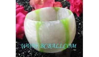Large Bangle Resin Handmade Motif