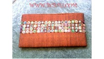 Bead Purse Wallet Cotton