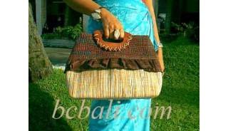Casual Straw Handbag Natural