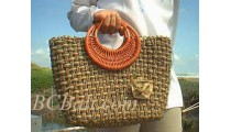 Bali Straw Handbags Natural Handmade