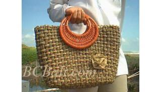 Bali Straw Handbags Natural Handmade
