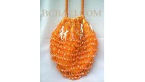 Handbags Full Beads Orange
