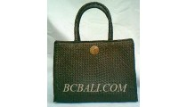 Handbags Pandanus Brown