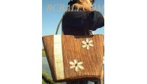 Beach Straw Handbags Flower