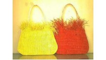 Party Handbags Straw Beads