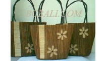 Shopping Bag Seagrass Set Flower