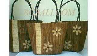 Shopping Bag Seagrass Set Flower