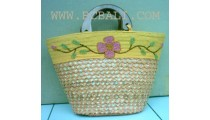 Shopping Straw Bags With Beads