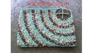 Women Purse Bead Coin