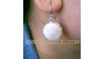 Organic Seashell Silver Earrings