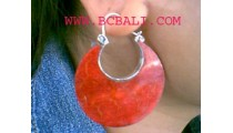 Red Moonstone Silver Earring