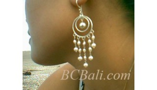 Silver Earing Pearls