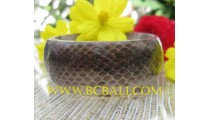 Bangles Resin Snake Skin Natural