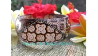 Fashion Bracelets Batik Resin