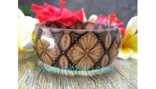 Resin Bangle Batik Hand Painting