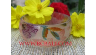 Woman Printed Resin Bangles