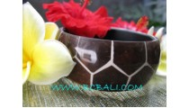 Wooden Coconut Resin Bangles
