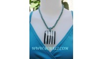 Lurex Pendants Bead Necklaces