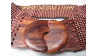 Ladies Buckle Beads Belt