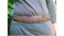 Multi Circle Coconut Wooden Beads Belt