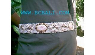 Woman Bead Shell Belt