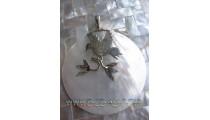 Eagle Shell Pendant Silver