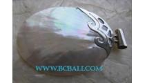 Natural Ocean Shells Pendant Silver