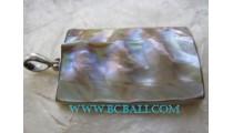 Nature Sea Shell Pendant Silver