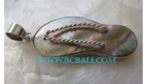 Pendant Shell Silver Sandals