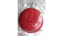 Red Coral Fashion Pendant