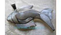 Shell Fish Pendant Silver