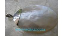 Shell Pearl Pendants Silver
