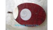 Shiva Red Coral Pendant