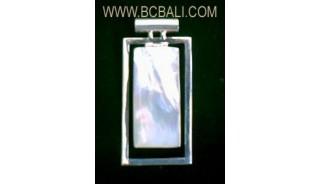 Silver Seashell Pendants
