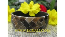 Bangles Golden Shell Resin