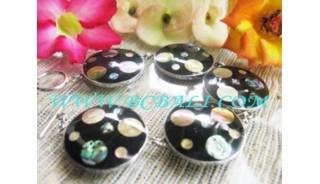 Black Circles Seashell Brecelets