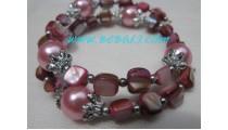 Pinky Shells Beaded Bracelets