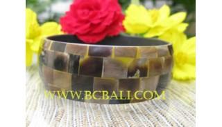 Resin Bangles Shells Pearls