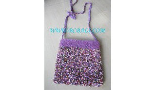 Beads Purse Handbags Long Handle
