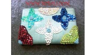 Multi Color Beads Purses
