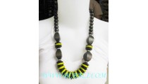 Seeds Wood Bead Necklace Color