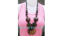 Bali Wood Necklace Natural