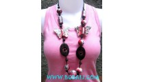 Butterfly Wooden Necklaces
