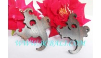 Hand Work Wooden Earring Carve